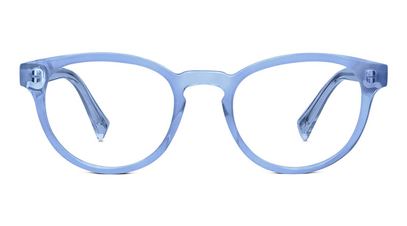 Warby Parker Percey Crystal Glasses in Tidal Blue $95