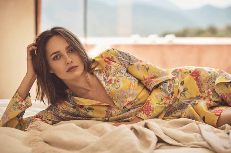 Karmen Pedaru stars in Zara Home Beachwear's 2017 collection