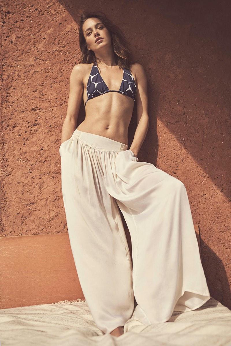 Zara Home spotlights triangle bikini top and wide-leg pants