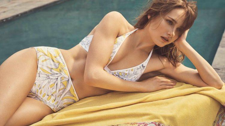 Zara Home Beachwear features printed bikini top and matching bottoms