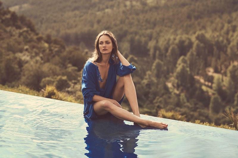 Zara Home Beachwear features swim coverup with printed bikini