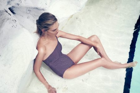 Vanessa Axente Soaks Up the Sun in Zimmermann's Latest Swim Collection