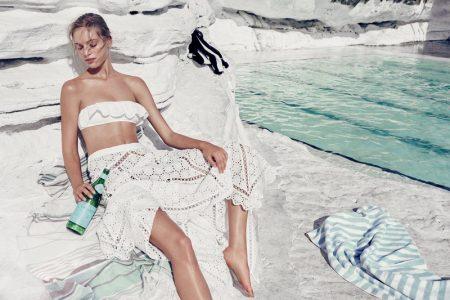 Zimmermann spotlights the Meridian Frill Bikini and Divinity Wheel Day Skirt