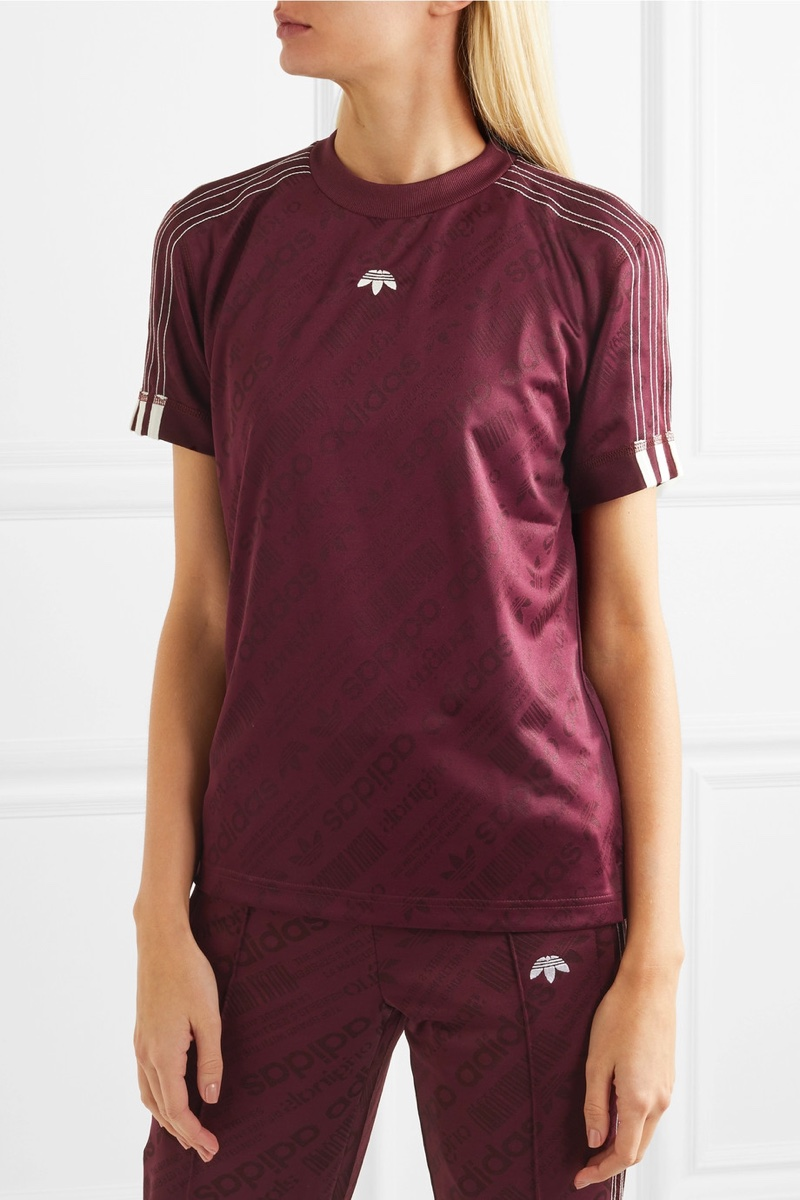 adidas Originals by Alexander Wang Embroidered Jacquard T-Shirt $110, Available at Net-a-Porter
