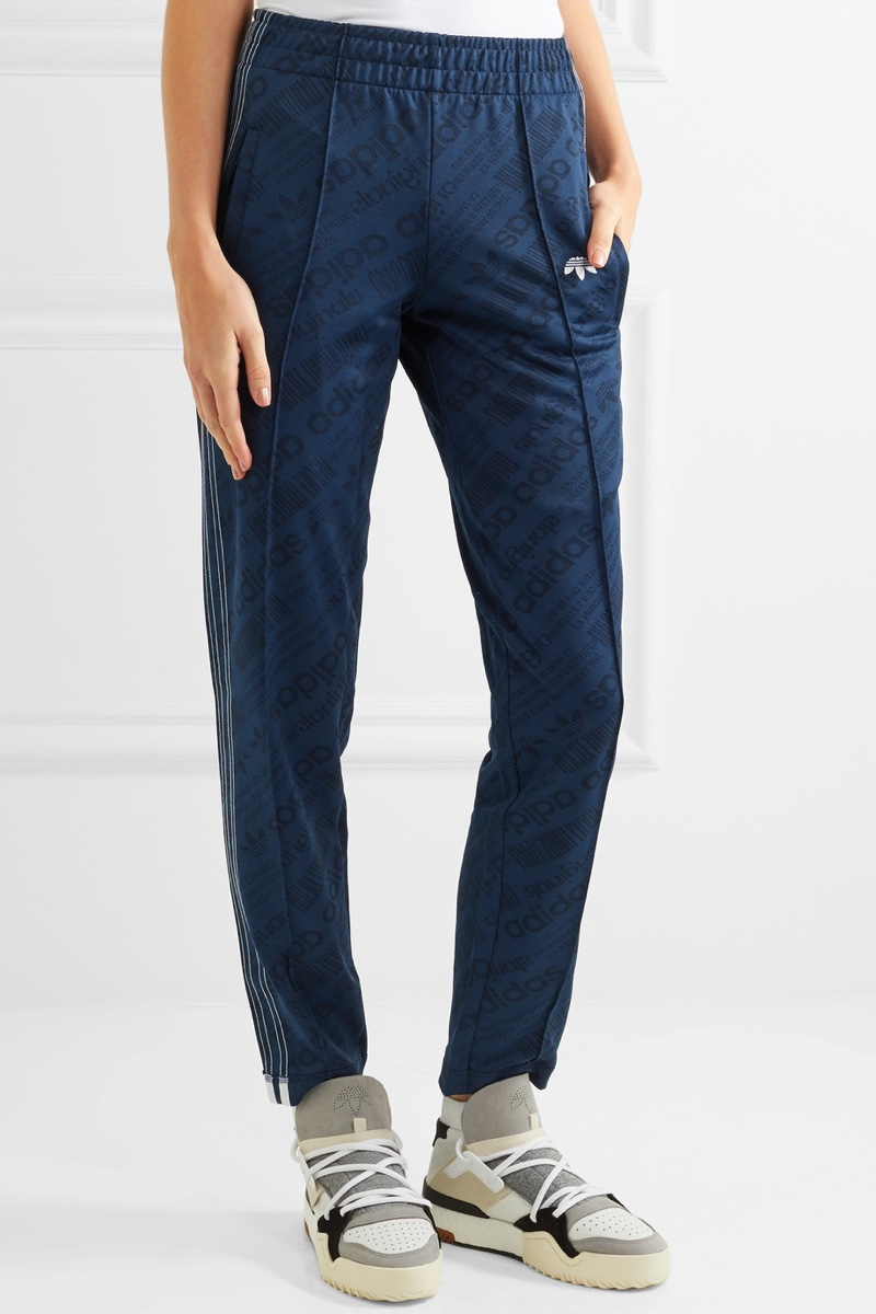adidas Originals by Alexander Wang Embroidered Jacquard Track Pants $210, Available at Net-a-Porter