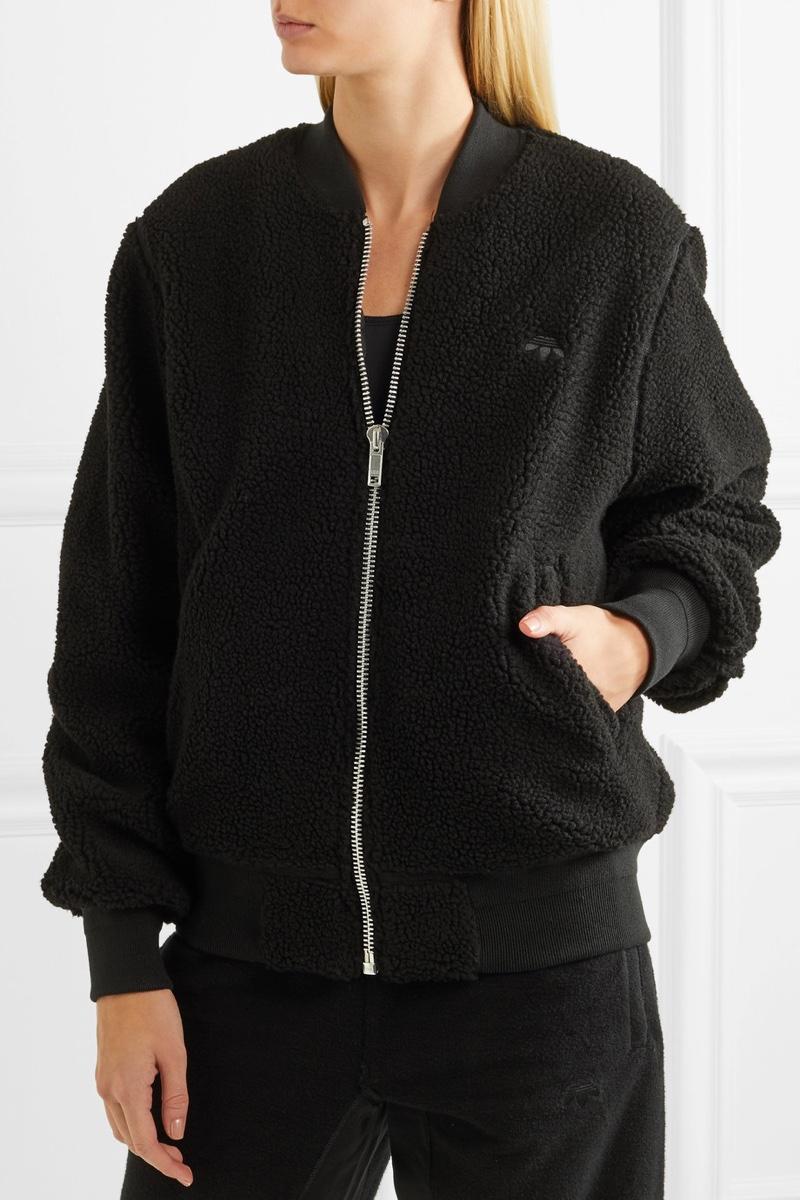 adidas Originals by Alexander Wang Reversible Fleece Jacquard Bomber Jacket $390, Available at Net-a-Porter