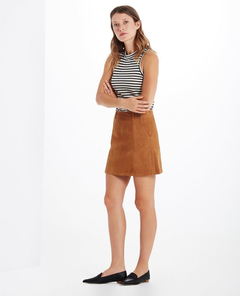 AG The Suede Juliette Skirt