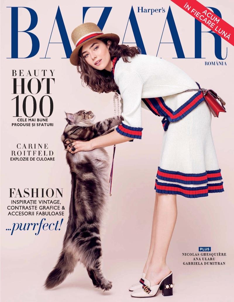 Ada Tache on Harper's Bazaar Romania May 2017 Cover