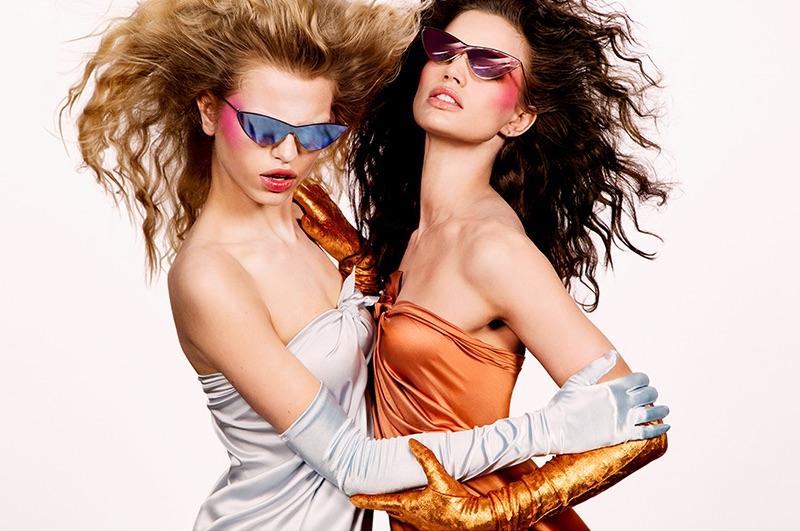 Daphne Groeneveld and Rianne ten Haken star in Adam Selman x Le Specs campaign