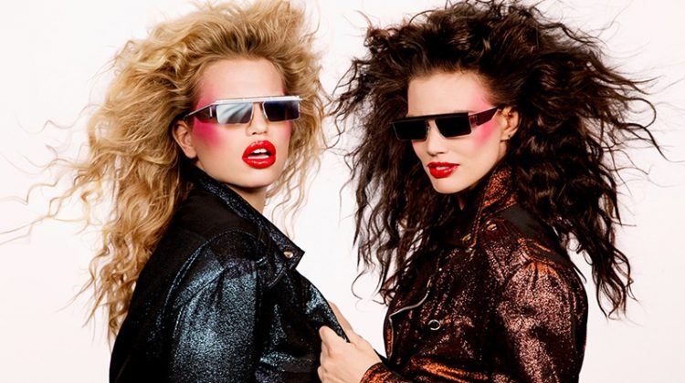 Channeling the 1980's the Adam Selman x Le Specs campaign brings the heat
