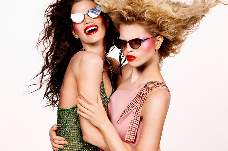 Daphne Groeneveld and Rianne ten Haken stand out in the Adam Selman x Le Specs campaign