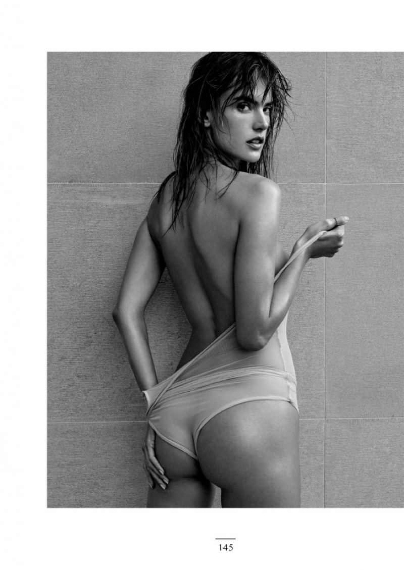 Alessandra Ambrosio wears semi-sheer bodysuit from Eres