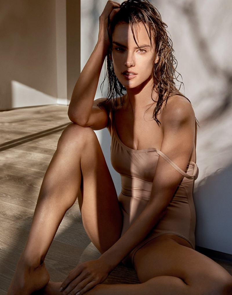 Supermodel Alessandra Ambrosio wears Eres swimsuit