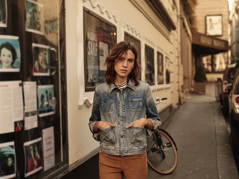 Alexa Chung stars in AG's spring-summer 2017 campaign