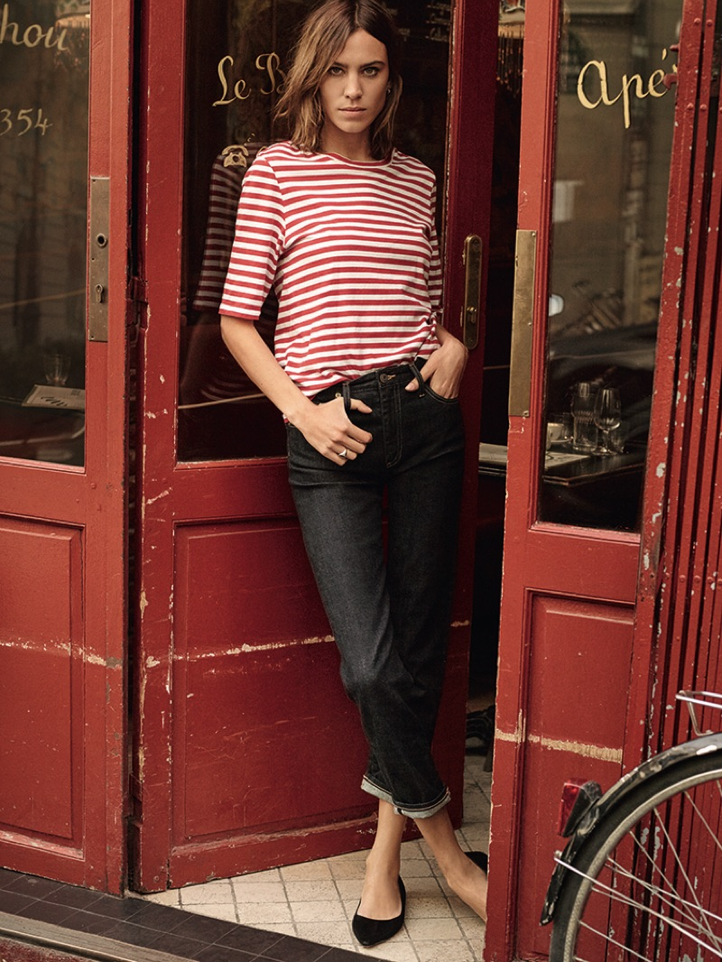 Style star Alexa Chung poses in Paris for AG's spring 2017 campaign