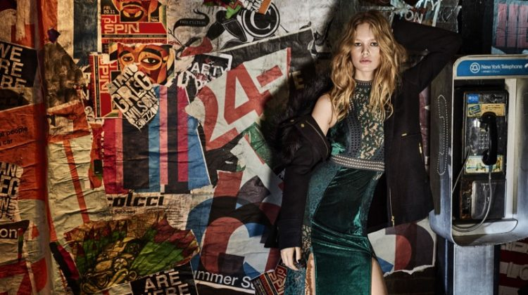 An image from Colcci's fall-winter 2017 campaign starring Anna Ewers