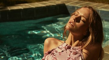 Annelot de Waal Poses Poolside in Summer Styles for TELVA Magazine