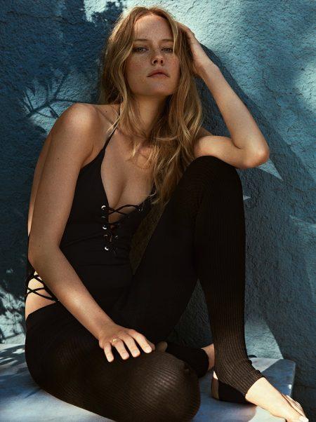 Annelot de Waal Poses Poolside in Summer Styles for TELVA Magazine