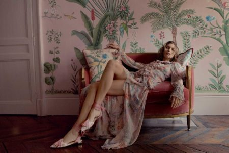 Just Landed: Aquazzura & de Gournay Collaborate on Luxe Footwear