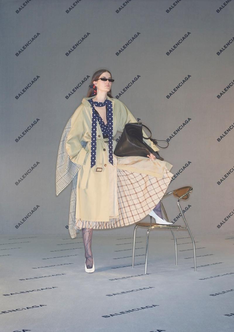 An image from Balenciaga's fall 2017 advertising campaign starring Eliza Douglas