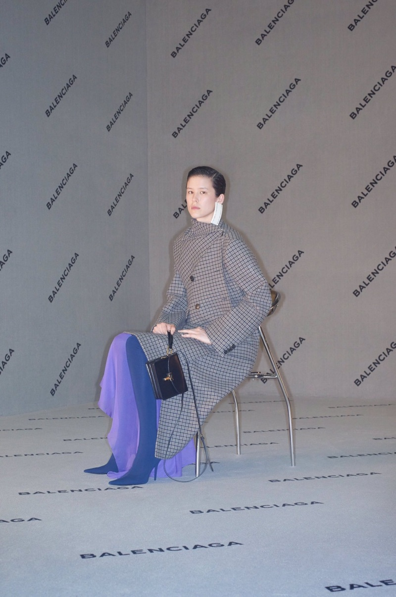 Kennah Lau poses in Balenciaga's fall-winter 2017 campaign