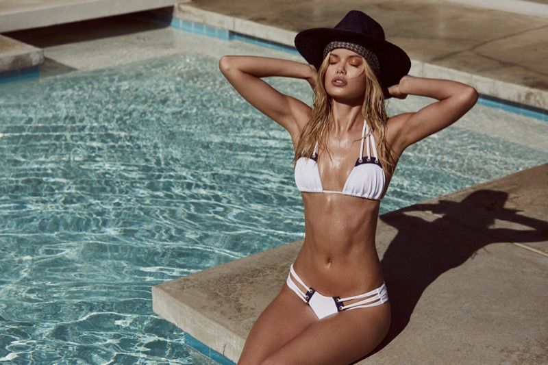 An image from Beach Bunny's Summer 2017 swimwear campaign