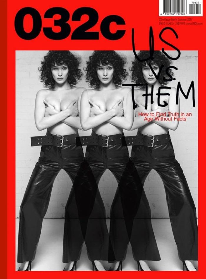 Bella Hadid on 032c Magazine Summer 2017 Cover