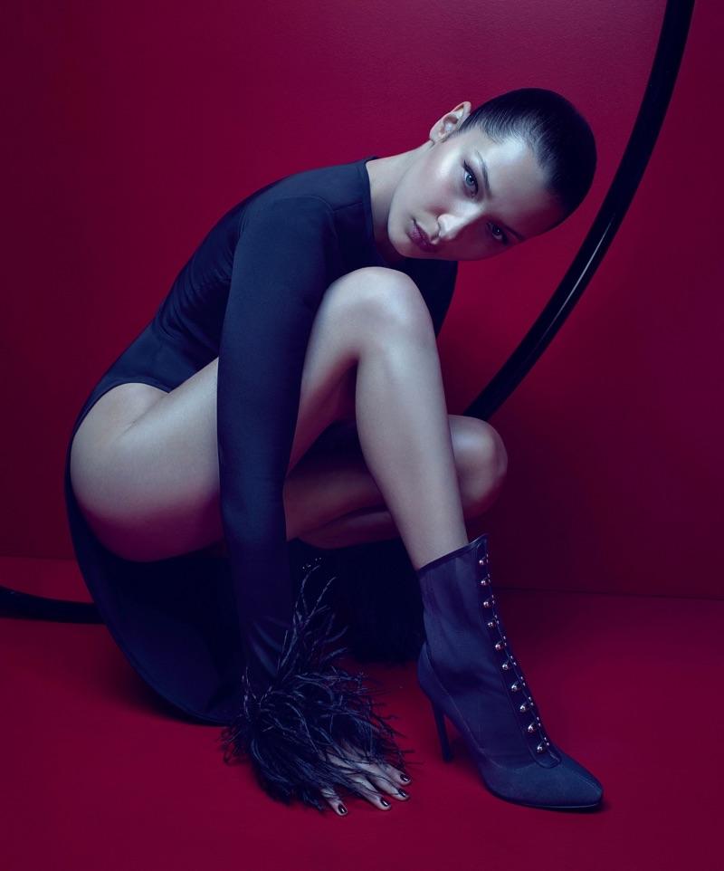 Bella Hadid stars in Giuseppe Zanotti's fall-winter 2017 campaign