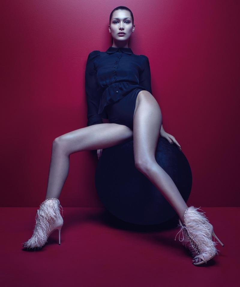 Bella Hadid Flaunts Some Leg in Giuseppe Zanotti's Fall 2017 Campaign