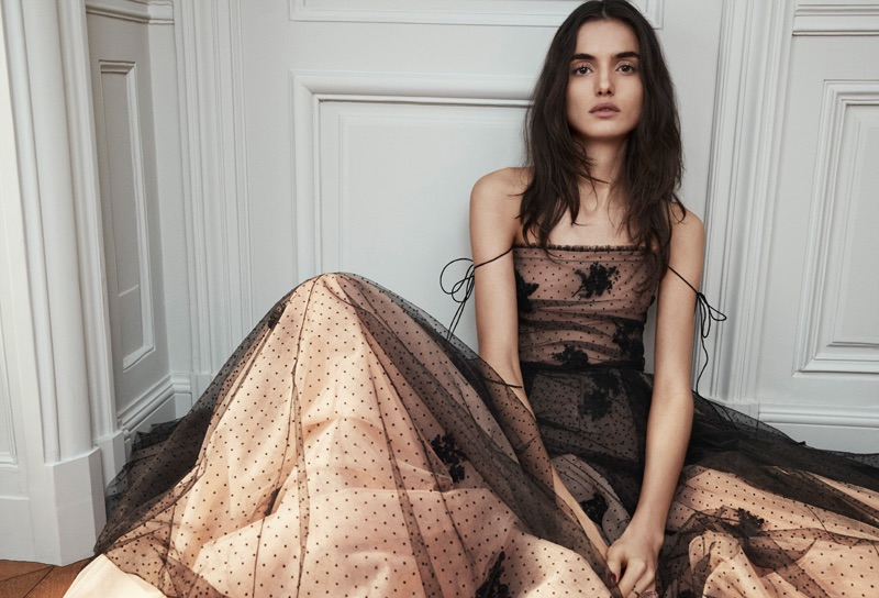 Blanca Padilla Charms in Dior Haute Couture for Vanity Fair Spain
