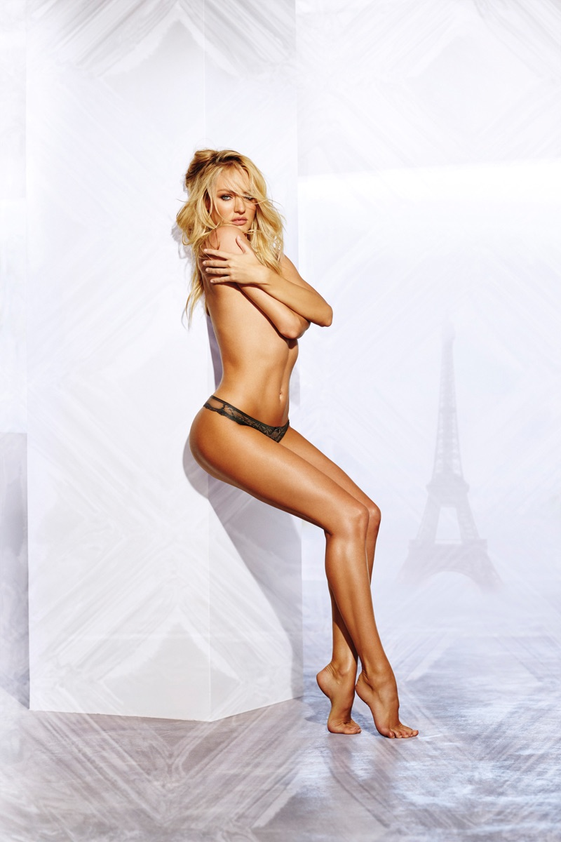 Angel Candice Swanepoel goes topless in Victoria's Secret Bombshell Paris fragrance advertisement