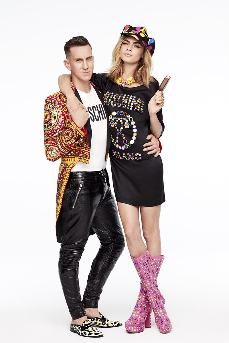 Cara Delevingne poses in Moschino for Magnum Ice Cream campaign
