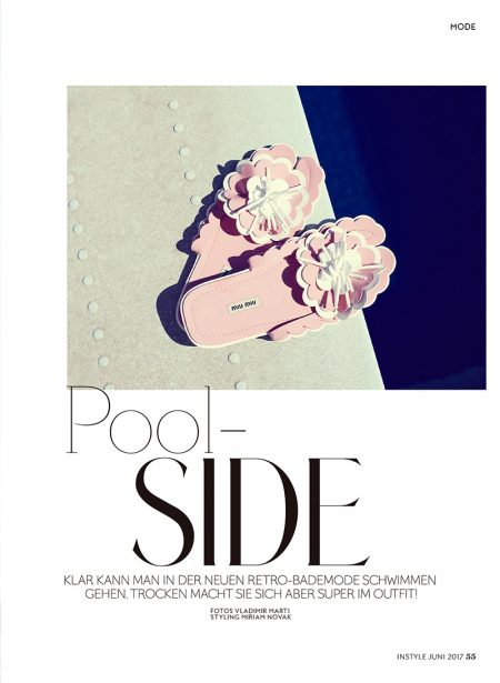 Carlotta Brass Models Retro Pool Style for InStyle Germany