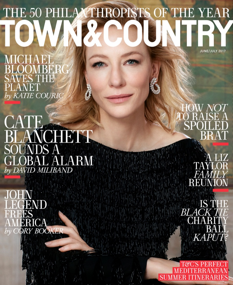 Cate Blanchett on Town & Country Magazine June/July 2017 Cover