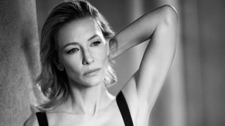 Actress Cate Blanchett wears little black dress