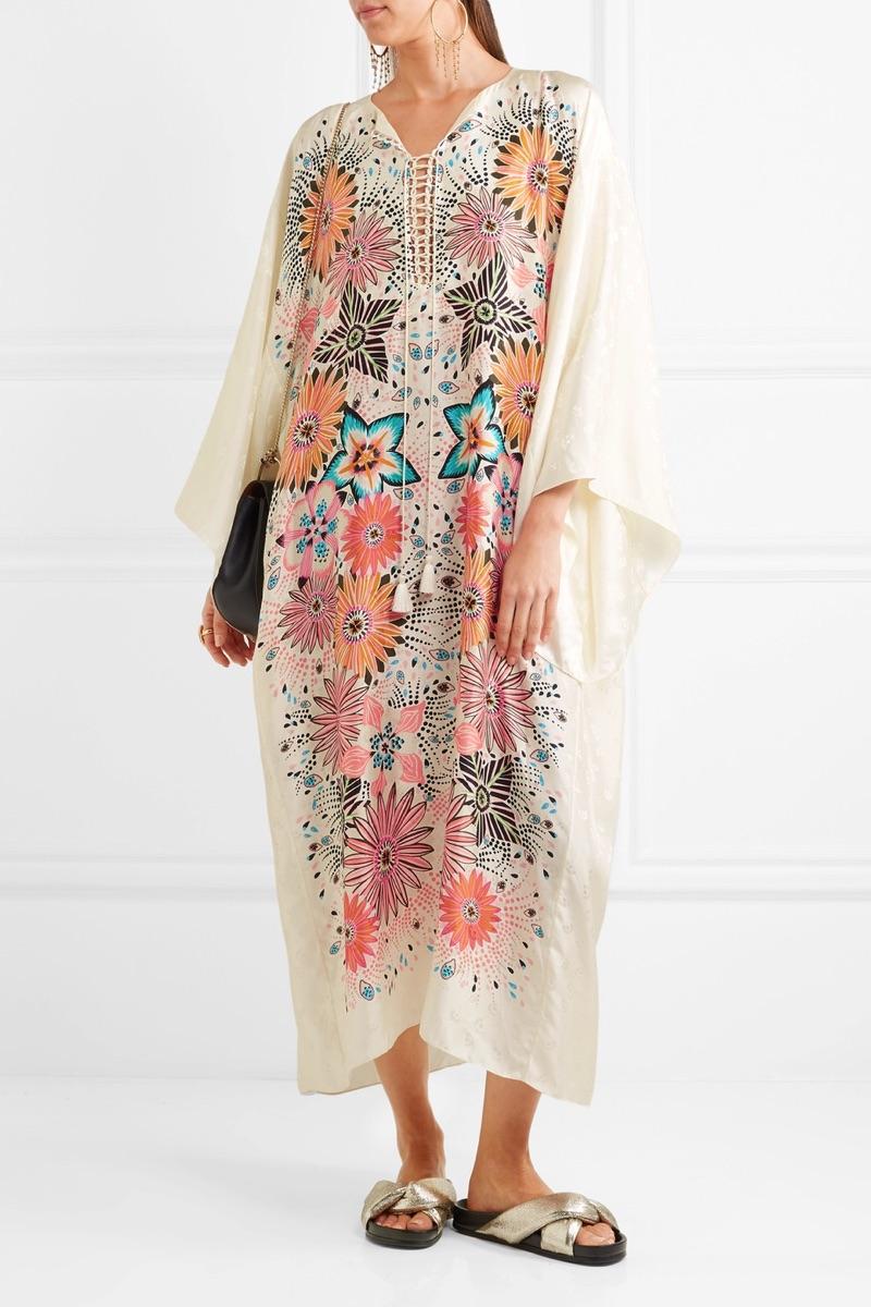 Chloe Floral-Print Jacquard Kaftan $2,395