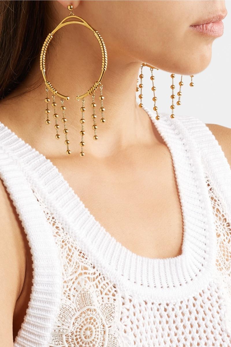 Chloe Gold-Tone Hoop Earrings $620