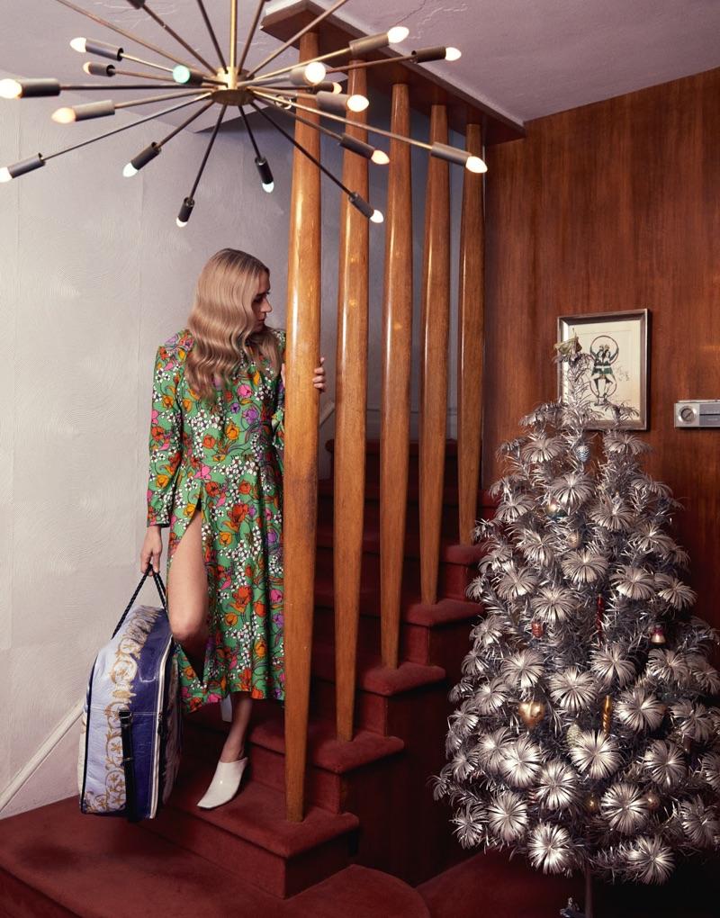 Chloe Sevigny models Balenciaga dress, shoes and oversized bag