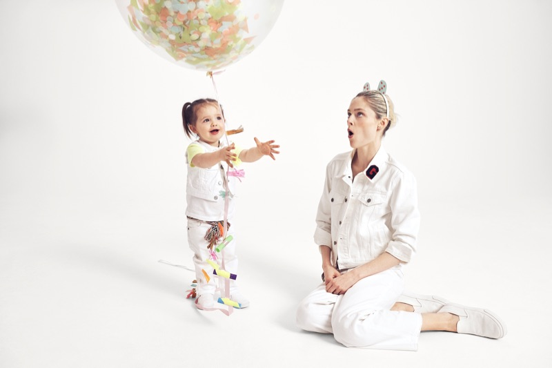 Coco Rocha poses with daughter Ioni for Gap Mama Said campaign