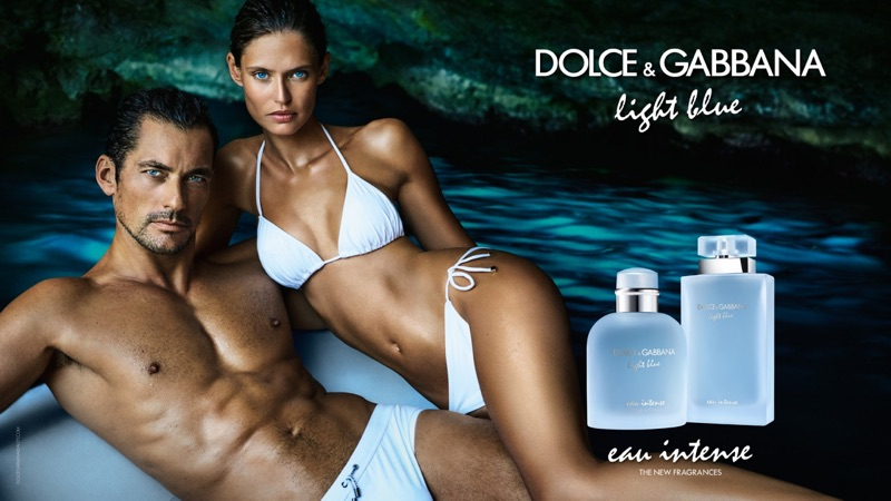 David Gandy and Bianca Balti reunite for Dolce & Gabbana's Light Blue Eau Intense campaign
