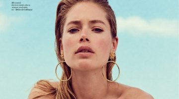 Doutzen Kroes Models Beachwear Looks for Vogue Ukraine