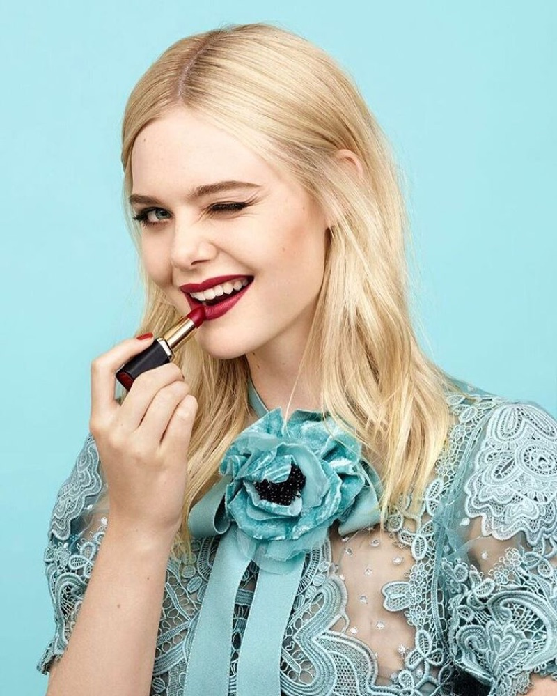 Elle Fanning announced as the new face of L'Oreal Paris