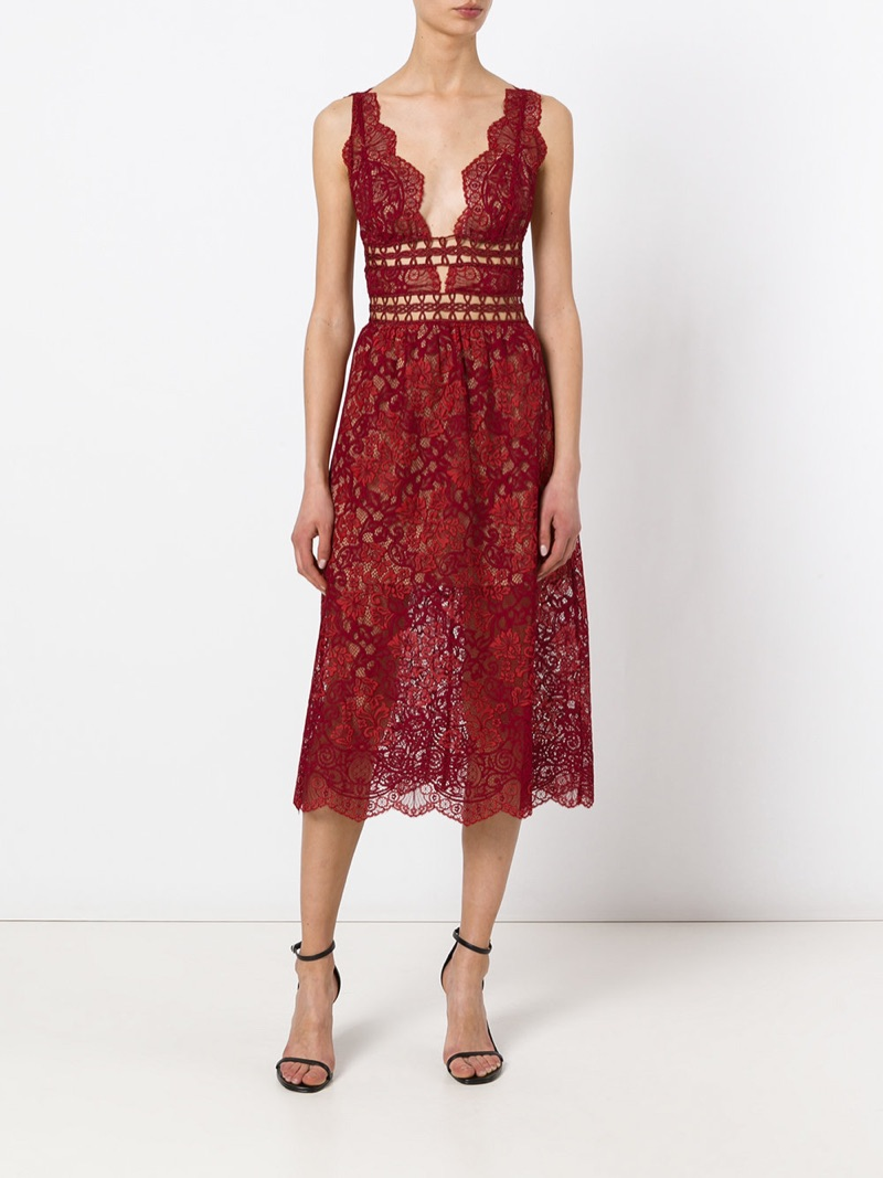 For Love & Lemons Sheer Lace Midi Dress $326 (previously $544)