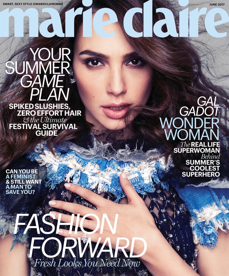 Gal Gadot on Marie Claire June 2017 Cover