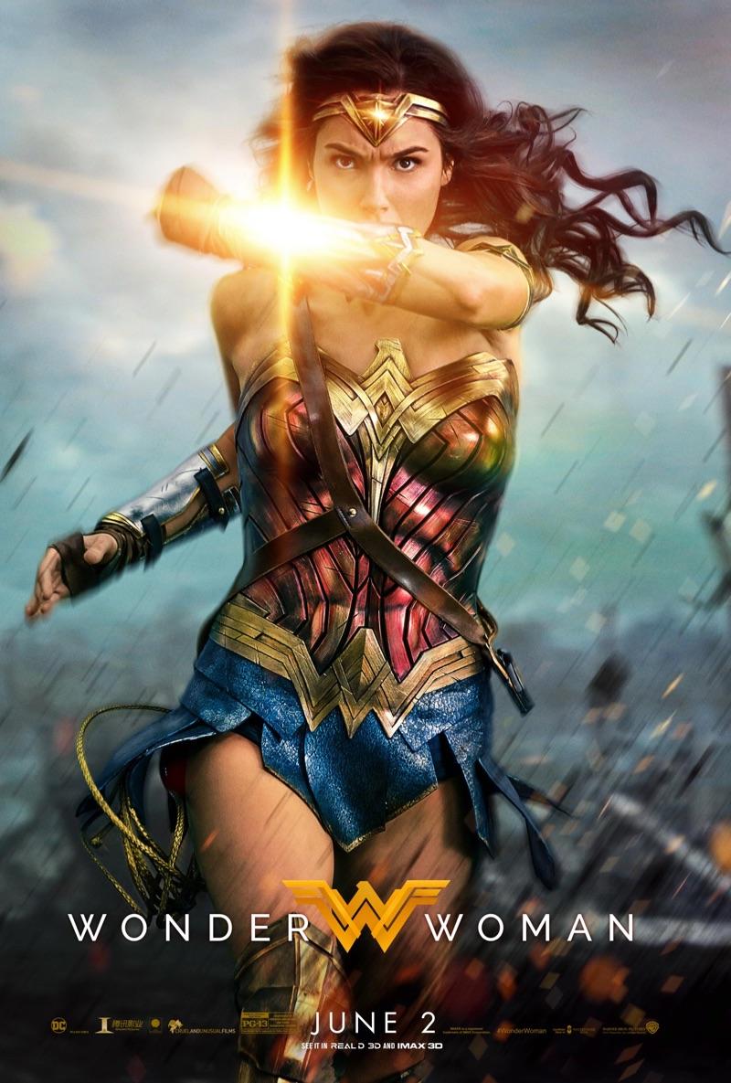 Gal Gadot on Wonder Woman movie poster