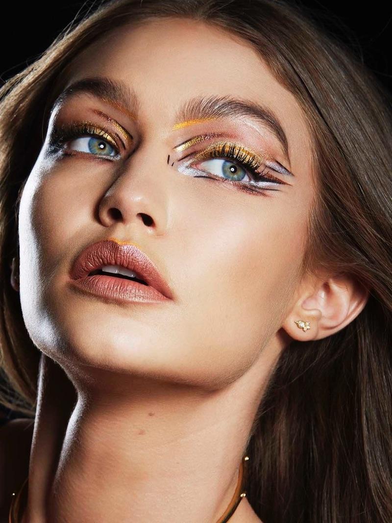 Gigi Hadid wears Metallic Sunset Eye Makeup from Maybelline