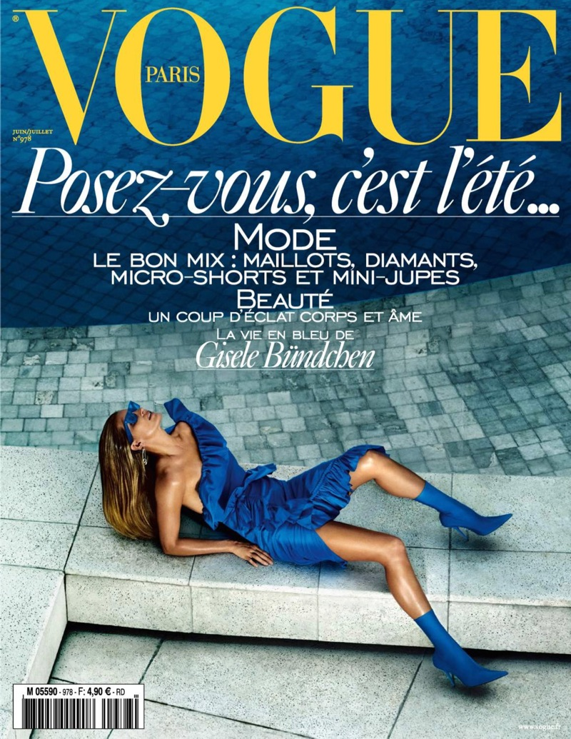 Gisele Bundchen on Vogue Paris June/July 2017 Cover