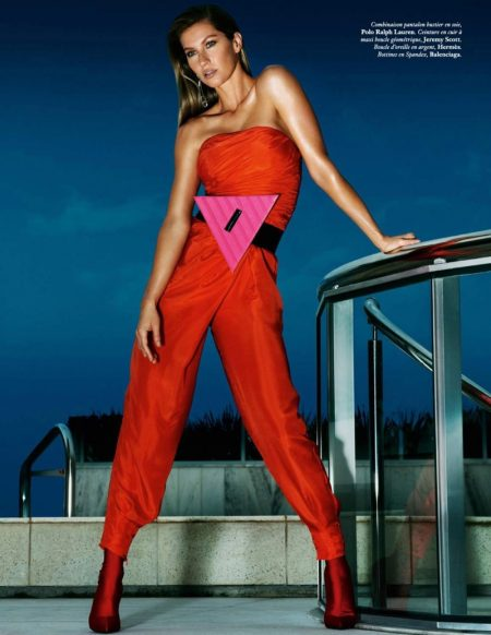Gisele Bundchen Wows in Jewel Toned Looks for Vogue Paris