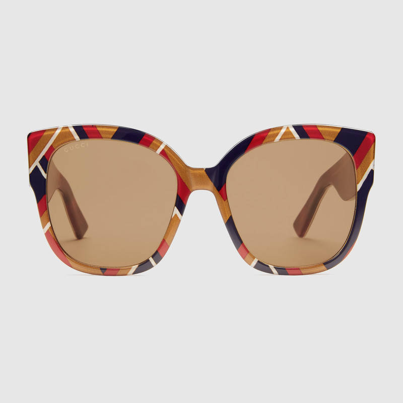 gucci 2017 sunglasses. gucci square-frame acetate sunglasses with web 2017
