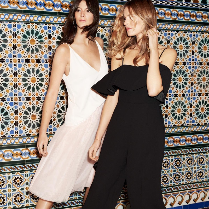 (Left) H&M V-Neck Camisole Top and Tulle Skirt (Right) Ankle-Length Jumpsuit